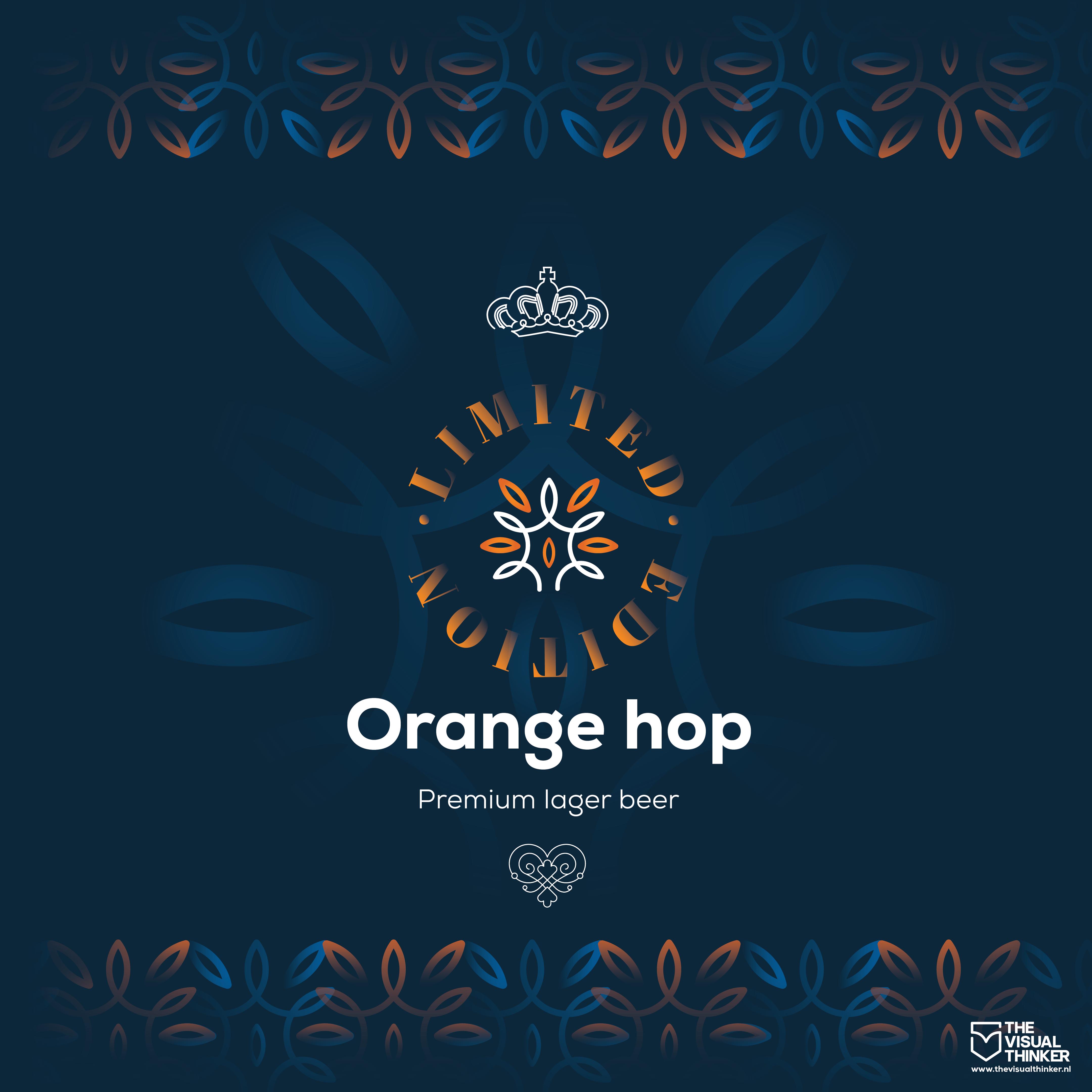 Orange Hop beer can